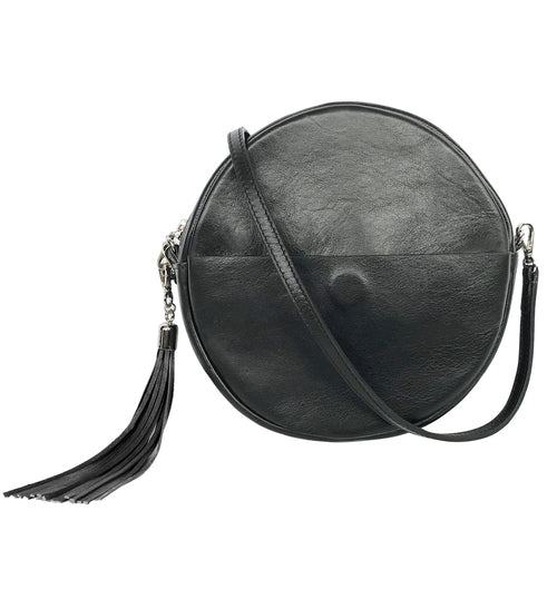Brave Leather Fausset Circle Bag in Black