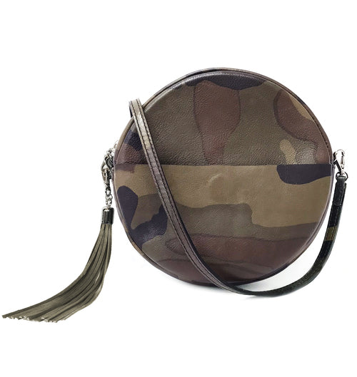 Brave Leather Fausset Circle Bag in Camo