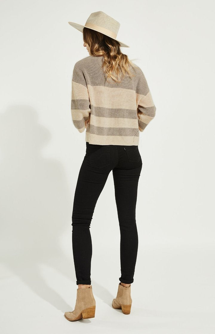 Gentle Fawn Heather Oatmeal Stripe Nino Pullover