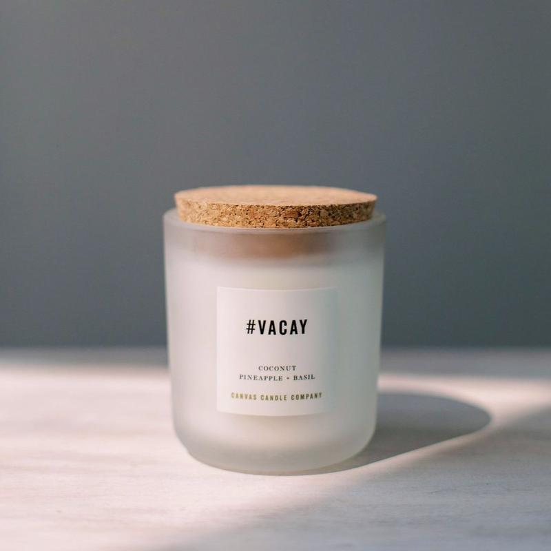 Canvas Signature Collection Candle- #VACAY