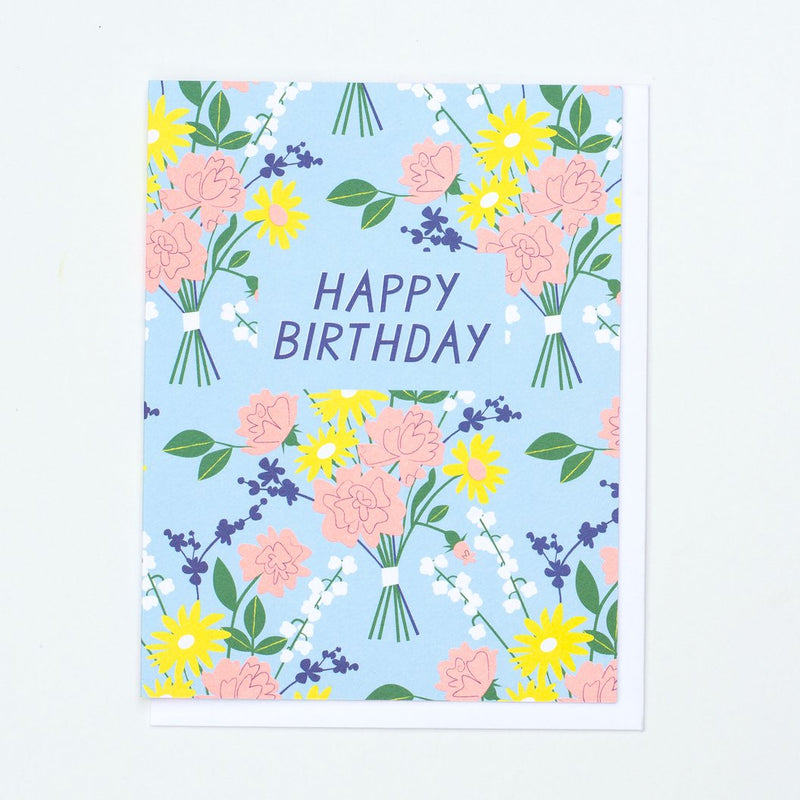 Banquet Blue & Yellow Vintage Birthday Card