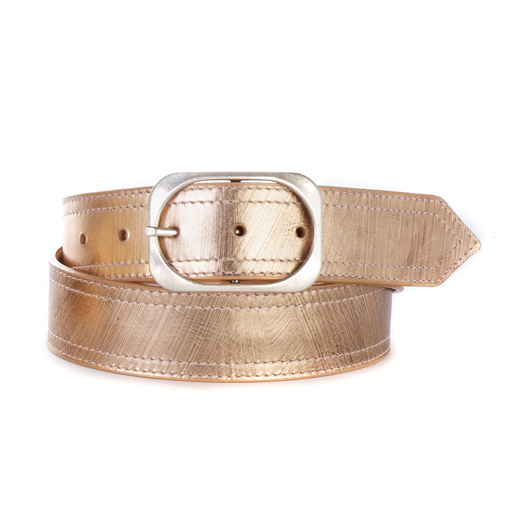 Brave Leather Oona Metallic Leather Belt