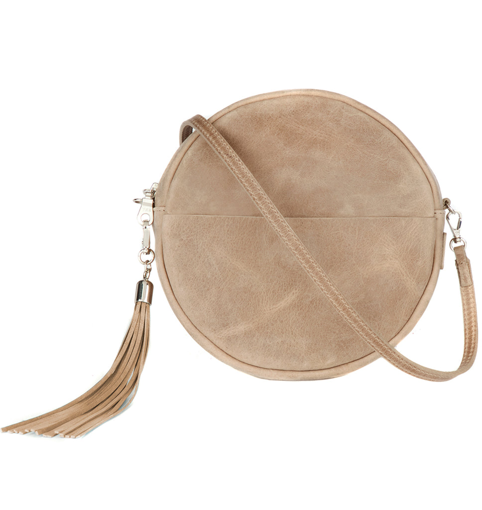 Brave Leather Fausset Circle Bag in Mushroom