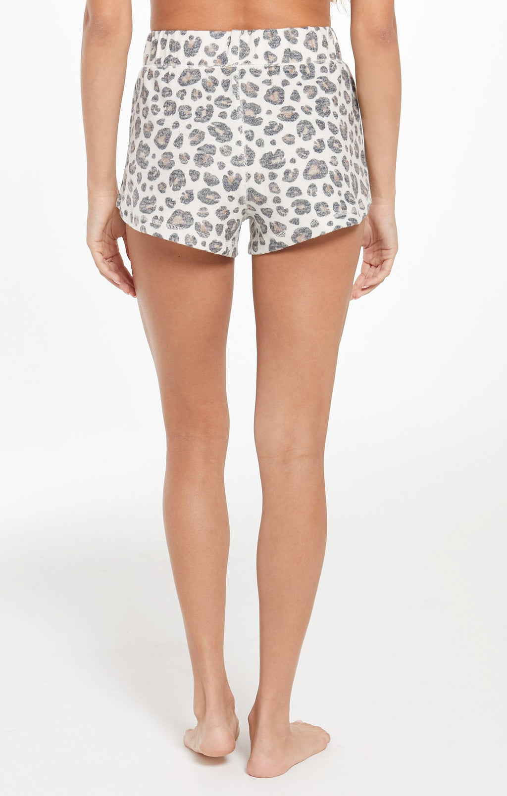 Z Supply Bree Brushed Slub Leopard Short