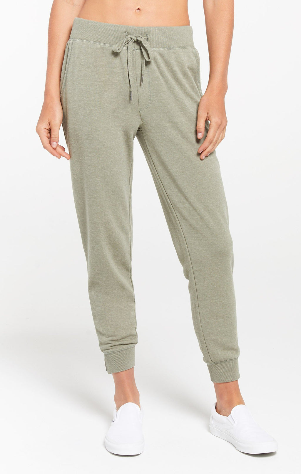 Z Supply Cypress Meadow Green Loop Terry Jogger