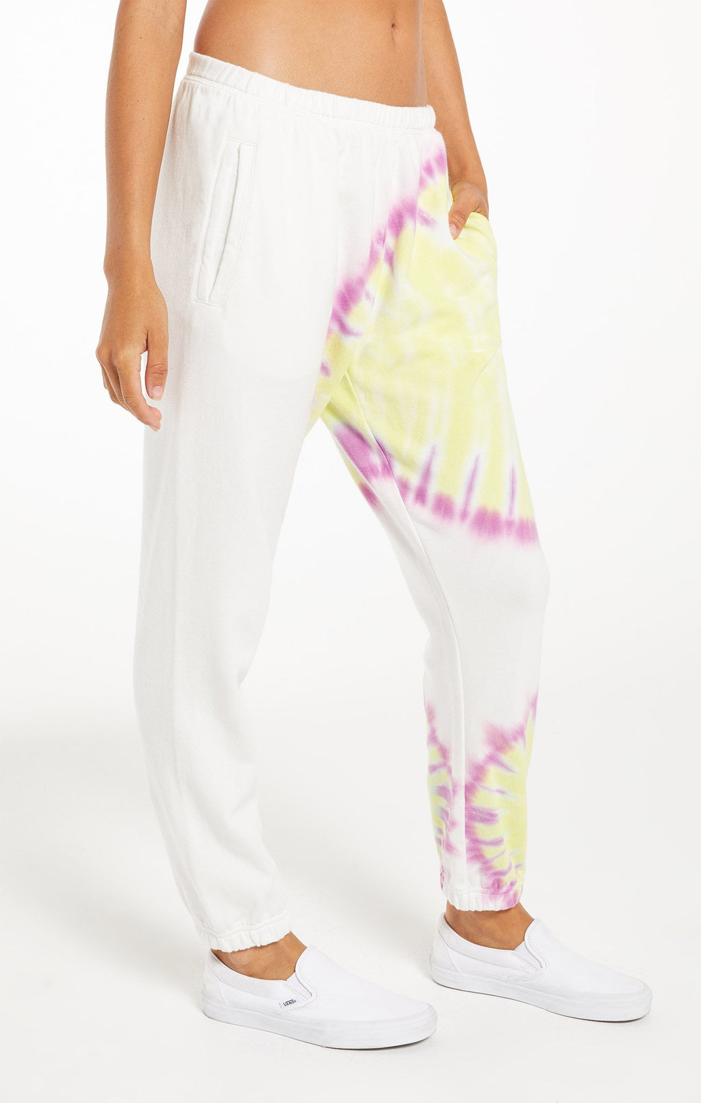 Z Supply White Sunburst Tie Dye Jogger