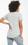 Z Supply Heather Grey Cotton Slub Pocket Tee