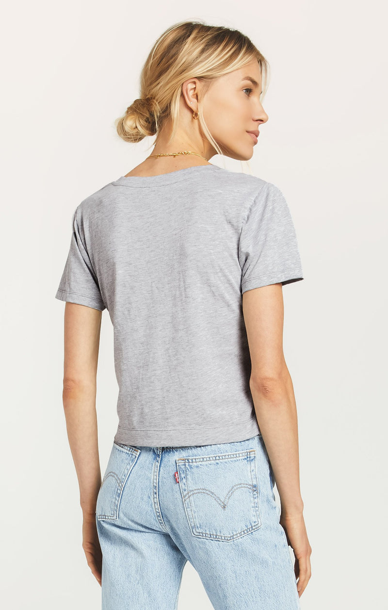 Z Supply Heather Grey Classic Skimmer Tee