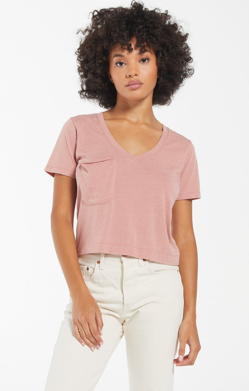 Z Supply Wild Rose Classic Skimmer Tee