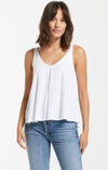 Z Supply Heather Organic White Tank