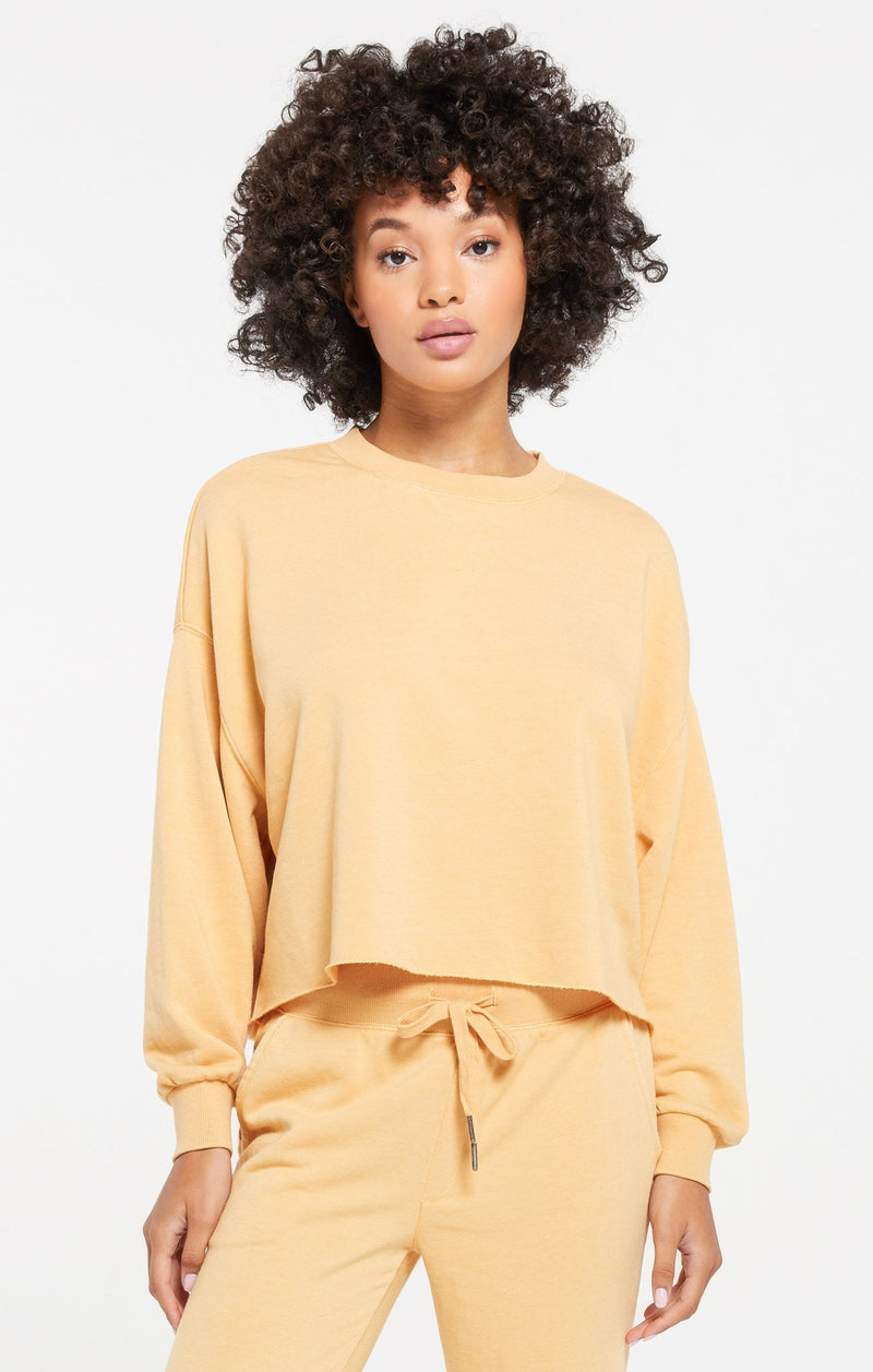 Z Supply Izzy Loop Dandelion Terry Pullover
