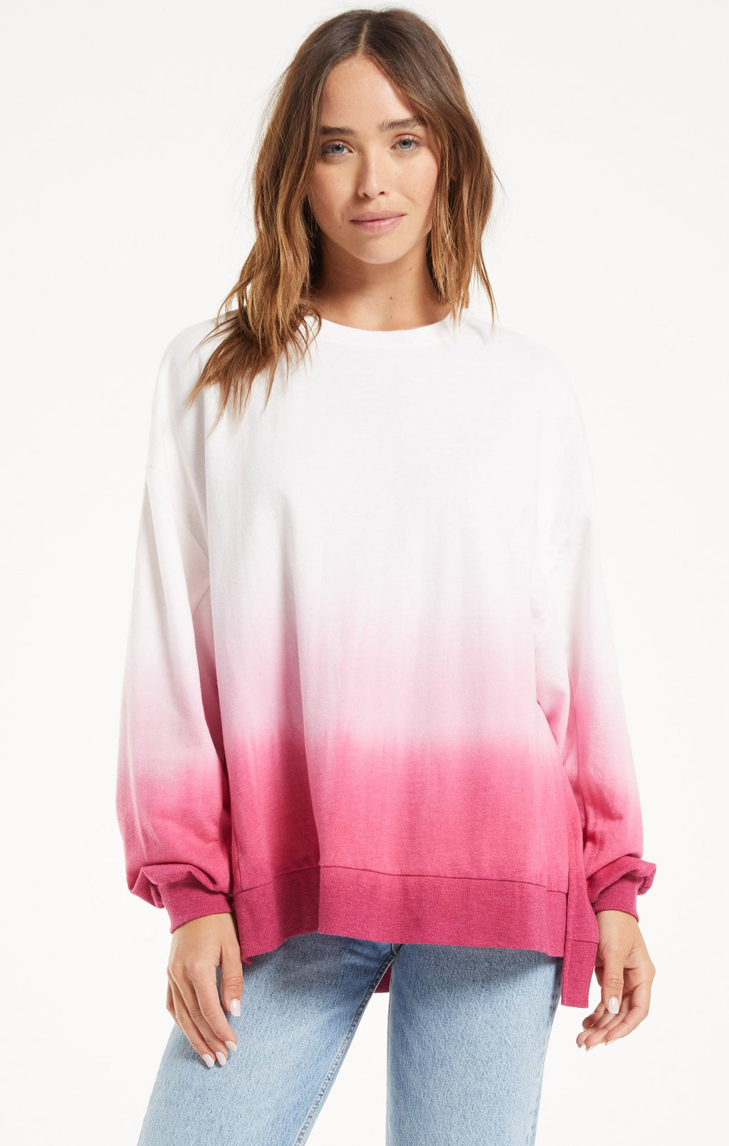Z Supply Magenta Modern Dip-Dye Weekender
