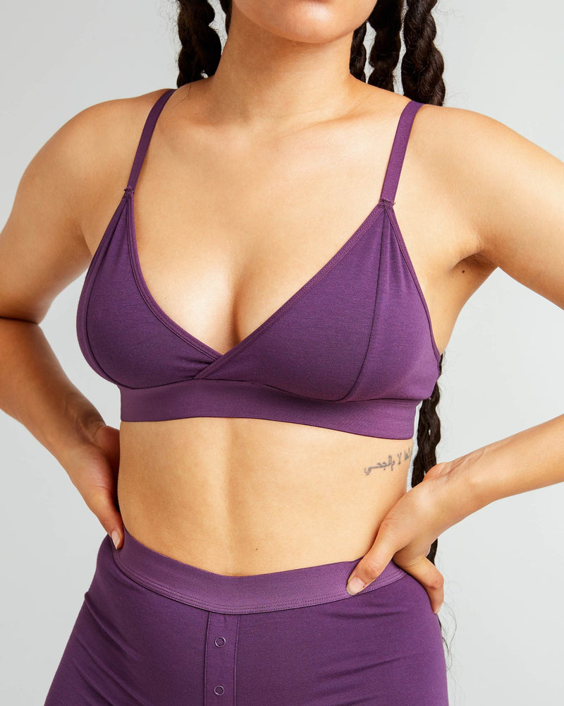 Richer Poorer Blackberry Wine Classic Bralette