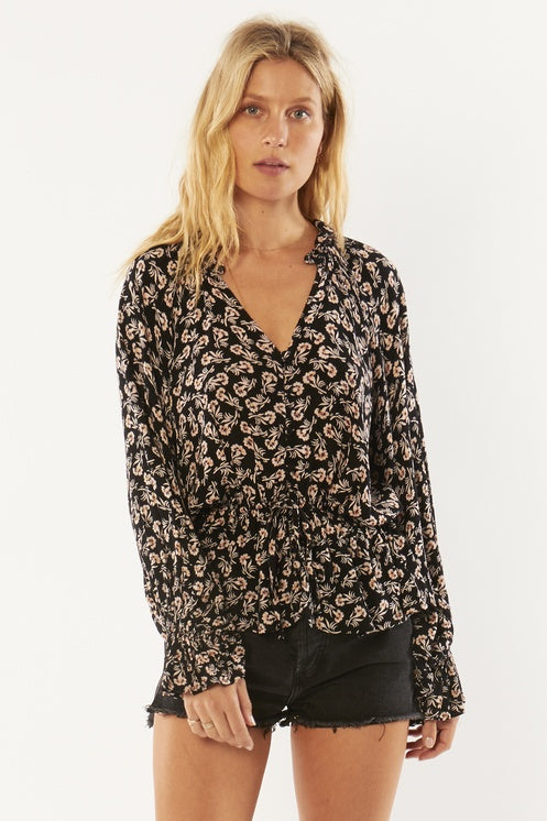 Amuse Society Pep Talk Long Sleeve Blouse