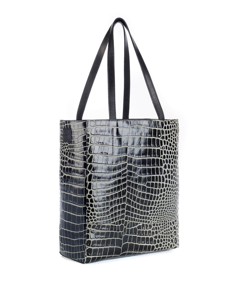 Brave Leather Black Two Tone Olsen Tote
