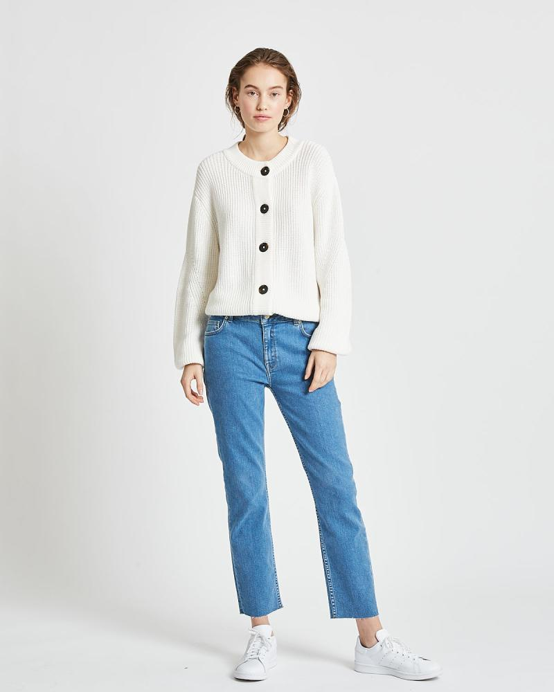 Minimum Affie Broken White Cardigan