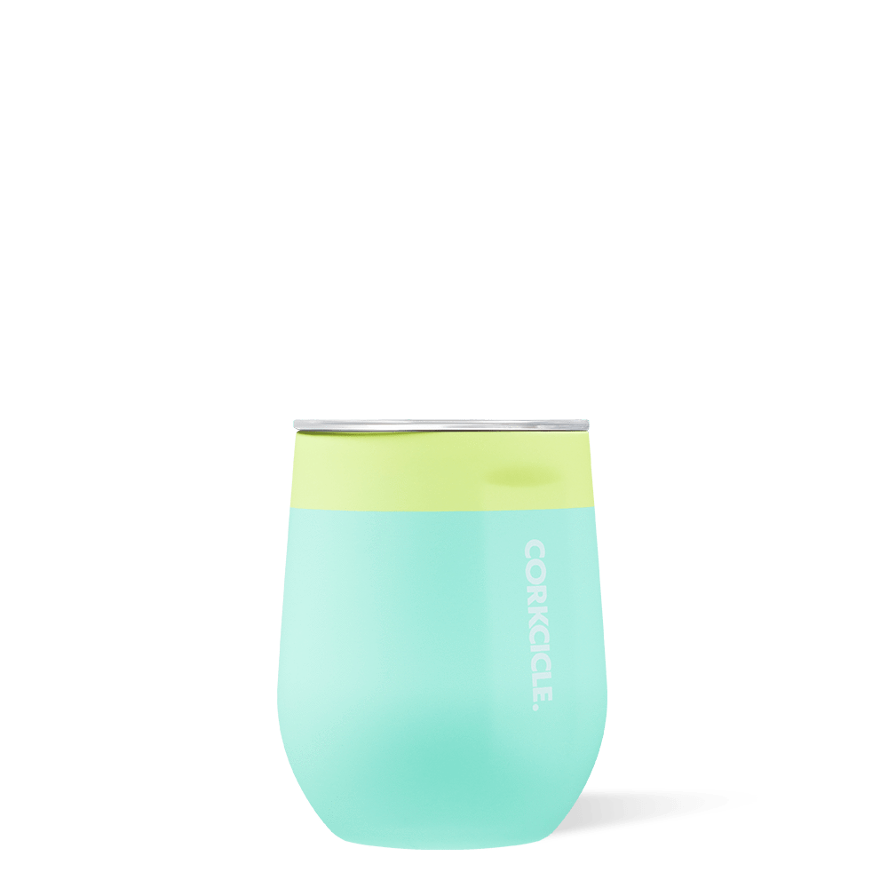 Corkcicle 12oz Color Block Limeade Stemless
