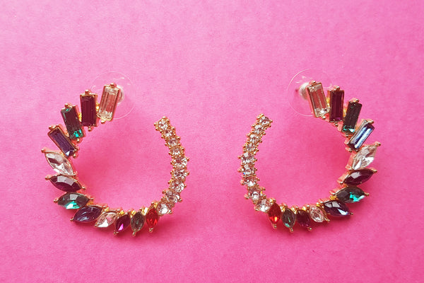 80's Glam Jewel Earrings