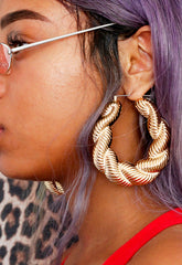 Rope Chain Door Knocker Earrings