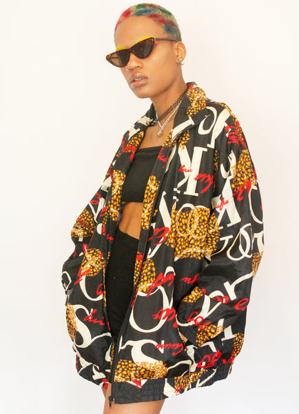 Vintage ACTIVE STUDIO Abstract Print Casual Jacket