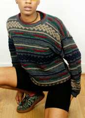 Vintage 90's Old Skool Pattern Jumper