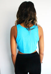 Neon Diamond Print Crop Top
