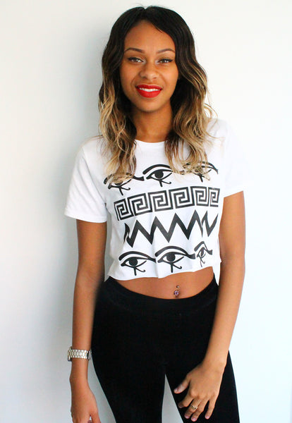 Eye See You Print Crop Top