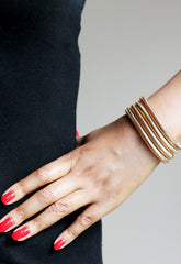 Chunky gold fashion jewellery bracelet