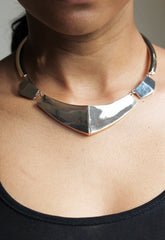 Gold Coloured Geo Collar Necklace