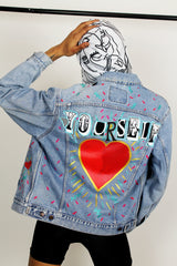 Love Yourself Vintage Denim Jacket