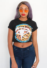 Leopard Eye Crop Tee