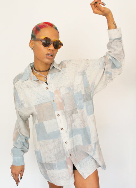 Vintage ANGELO LITRICO Oversized Pastel Shirt