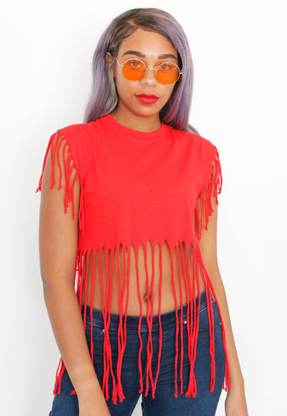 Red Hot Fringe Tee