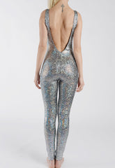 Silver Disco Mermaid Catsuit