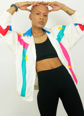 Vintage SLADE Color Pop 90s Nylon Casual Shell Jacket
