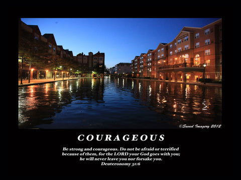 "Inspirational Photo ""Courageous"""