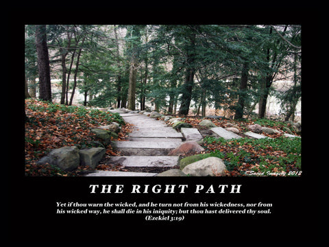 "Inspirational Photo ""The Right Path"""