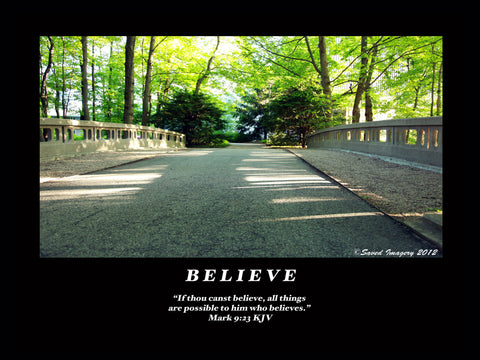 "Inspirational Photo ""Believe"""