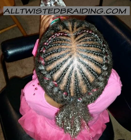 Cornrows Style with added color