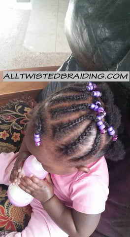 Baby Cornrows with Beads