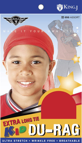 King J Kids Extra Long Tie Du-Rag - Kids Durag