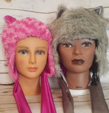 Satin lined faux fur winter whimsical hat