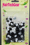 Black and White Hair Beads