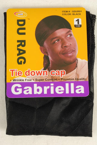Du Rag Black W Long Tail