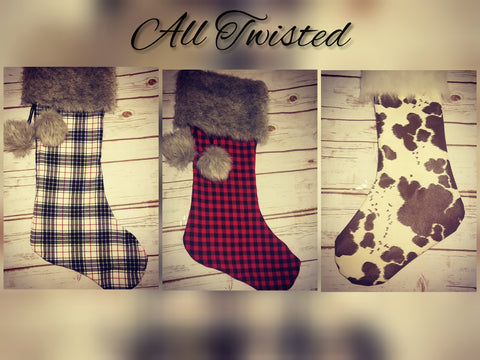 Custom Farmhouse Christmas Stockings