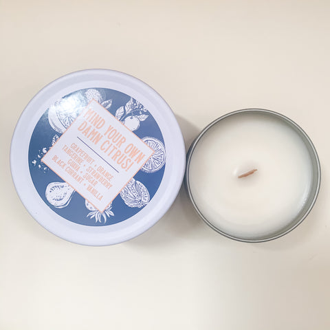 Mind your own damn Citrus! Coconut Wax Candle