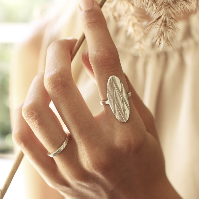 W Ring Silver
