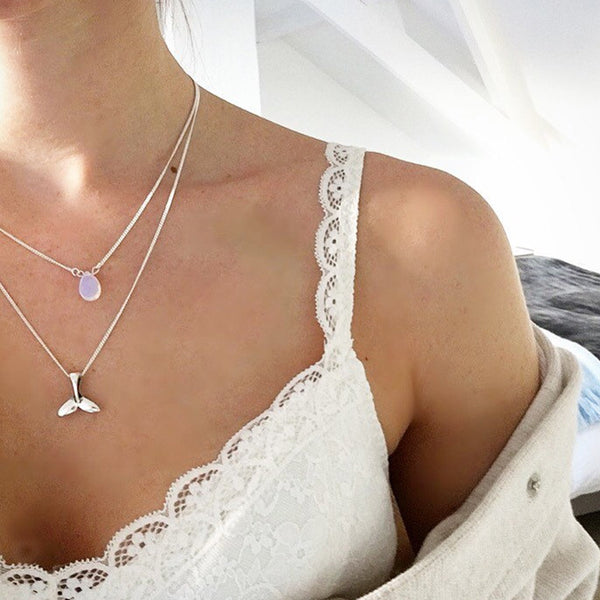Mermaid Moonstone Necklace