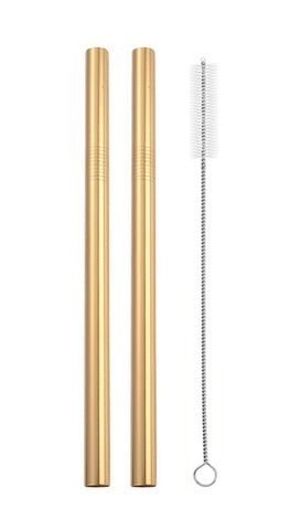 Wide Stainless Steel Straw