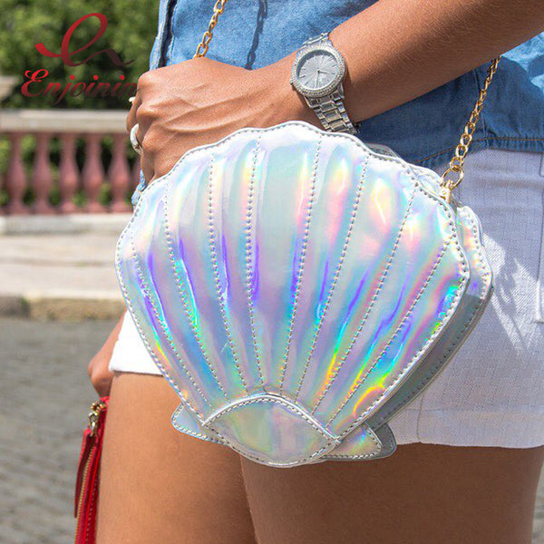 Holographic Shell Chain Bag